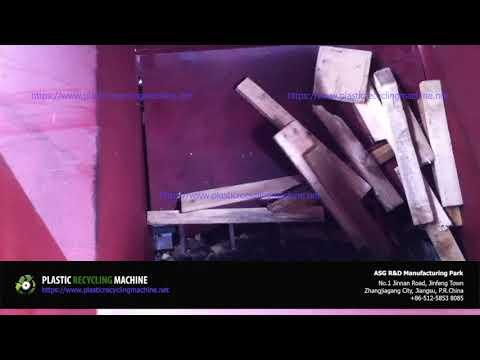 Single Shaft Shredder System   Plastic Recycling Machine For Cutting Tough Plastics