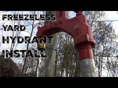 How To Install A Freeze Proof Yard Hydrant