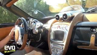 Horacio Pagani driving the Pagani Huayra