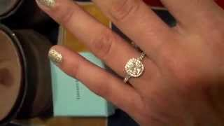 Tiffany Soleste Cushion Cut Diamond Engagement Ring