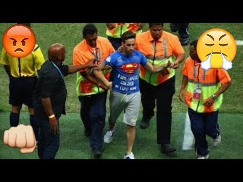 Football fans interrupting:Funny moments and fights