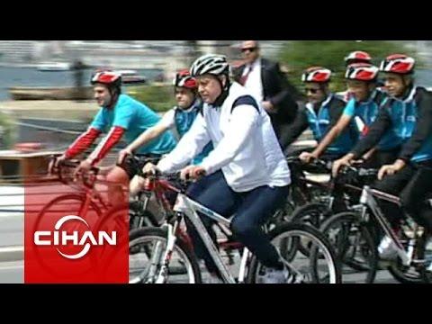 Cumhurbaşkanı Erdoğan, bisiklet kullandı