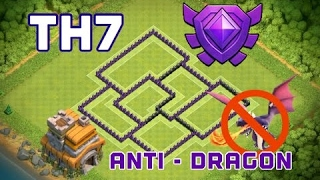 NEW Clash of Clans - TH7 CRYSTAL LEAGUE TROPHY BASE | Anti - 3 Star Town Hall 7 Defense 2017