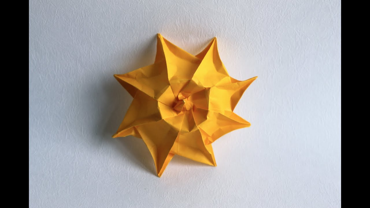 origami pretty sun by nicoletta maggino youtube