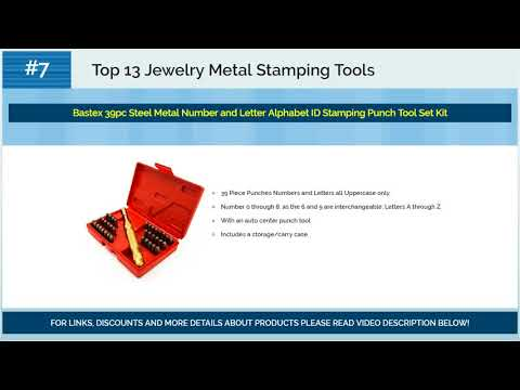 Best Jewelry Metal Stamping Tools 2018