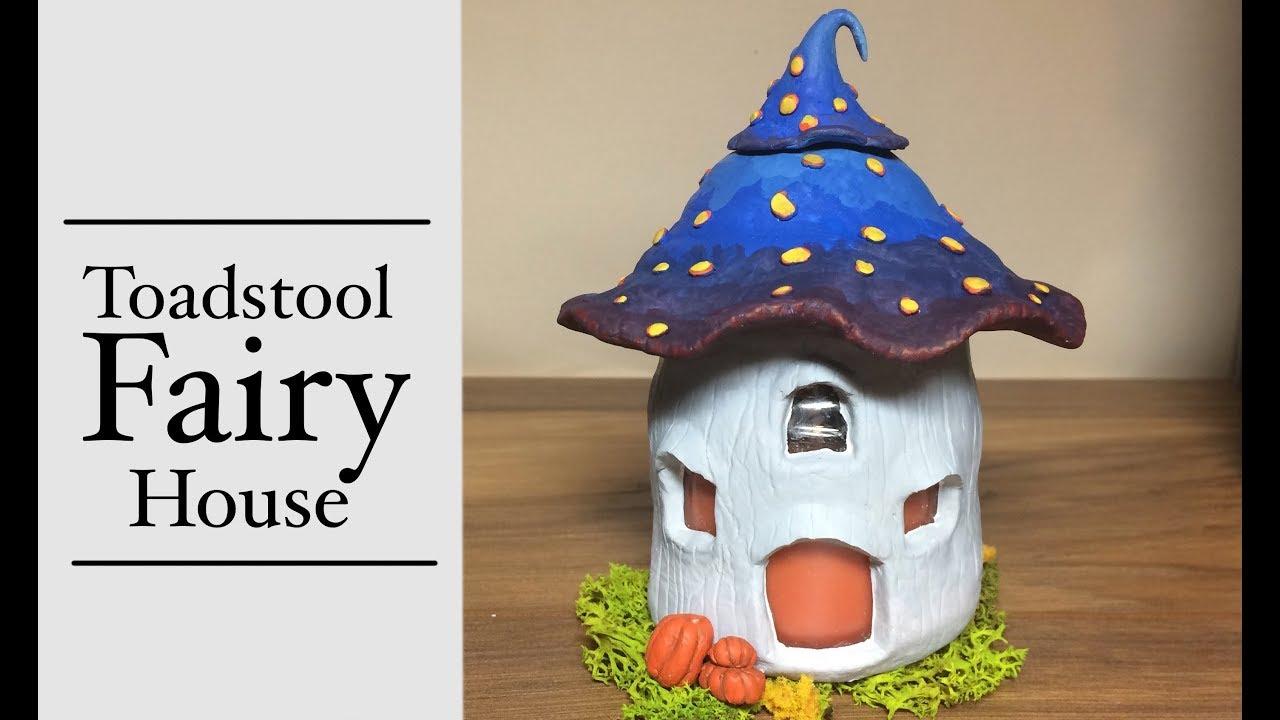 Diy Polymer Clay Fairy House Lantern Jar Candle Mushroom House