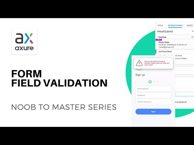 Form Field Validation with Condition Statements | Axure RP: Noob to Master Ep10