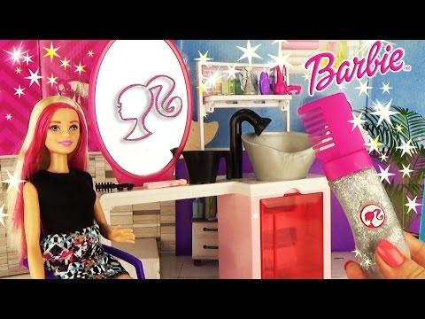 Салон красоты Барби Игровой набор для девочек Делаем прически ♥ Barbie Sparkle Style Salon