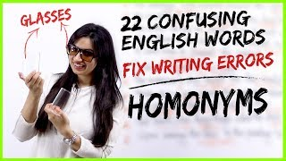 22 Confusing English Words   HOMONYMS   Fix Common Vocabulary Mistakes & Errors  Learn English