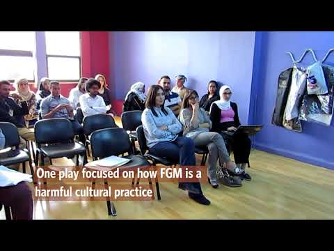 Using interactive theater performances to change social attitudes towards FGM