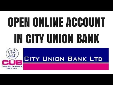 City Union Bank Online Saving Account Opening