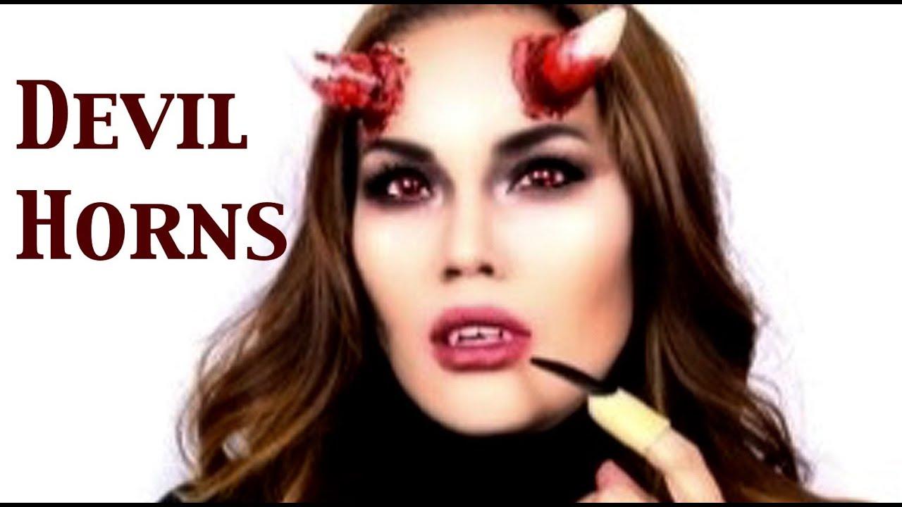devil horns halloween makeup - Devil Horns For Halloween
