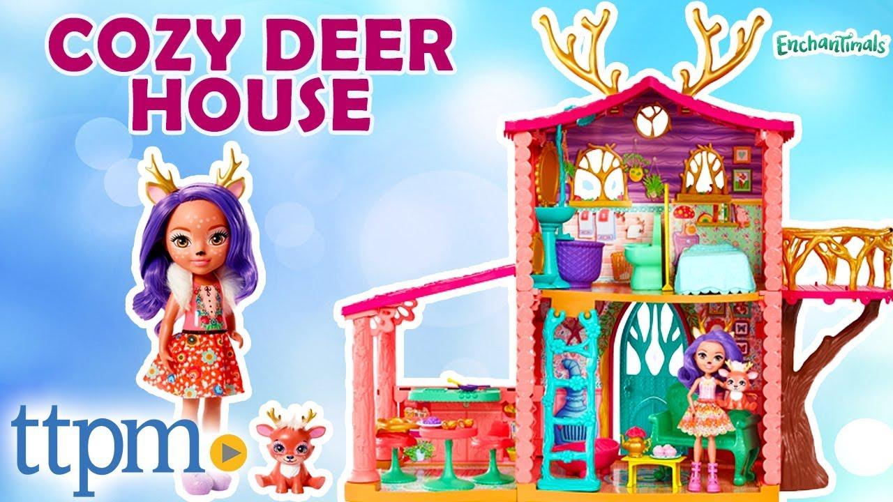 e21a44e3597 Enchantimals Cozy Deer House Playset - Danessa Deer Doll, Sprint Figure |  Mattel Toys & Games