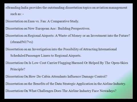 The Outstanding Dissertation Topics on Aviation Management