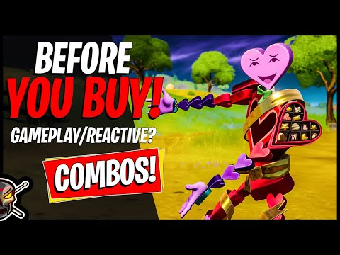 New CANDYMAN Skin Review In Fortnite! HEART BEATER/SWEETY SKULL! Combos/Gameplay (Fortnite BR)