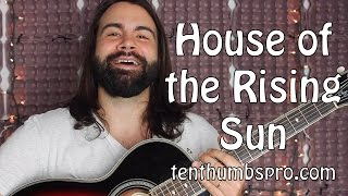 House of the Rising Sun - Easy Acoustic Fingerpicking Guitar Tutorial