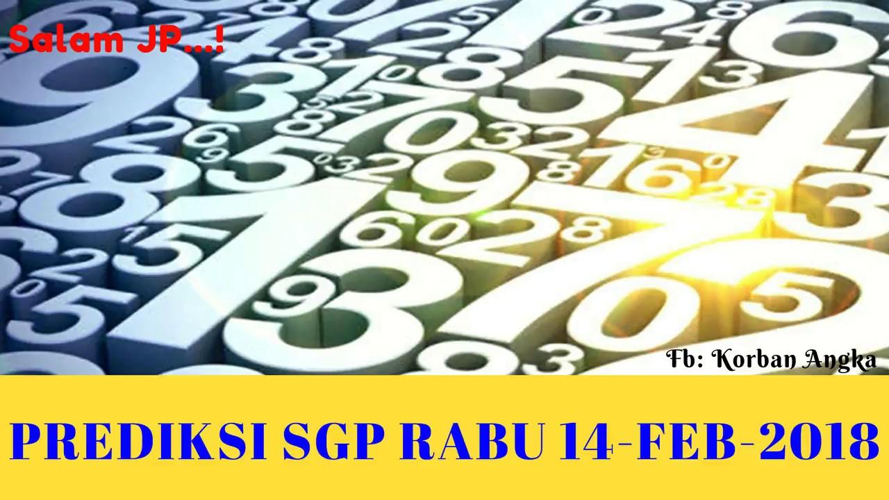 MASTER PREDIKSI SGP RABU 14 FEBRUARI 2018 - YouTube