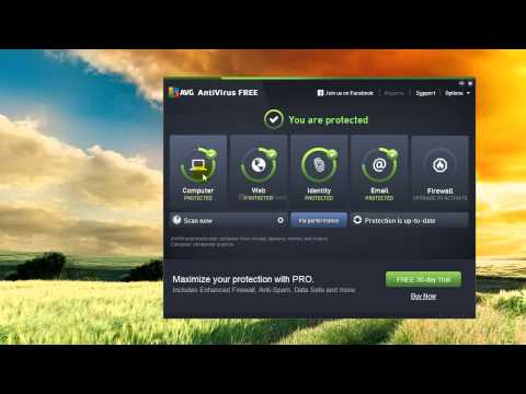 แนะนำโปรแกรมสแกนไวรัสฟรี AVG FREE