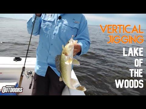 Vertical Jigging Lake Of The Woods Walleye