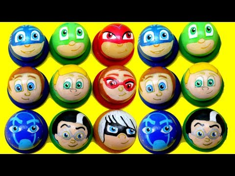 PJ Masks Toys! Wooden Toy Balls Disney Learn Numbers Preschool Pound Toy for Kids Toddlers