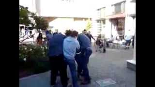 VINTAGE FAIR MALL,  MODESTO, CALIFORNIA  BEATS UP A CUSTOMER