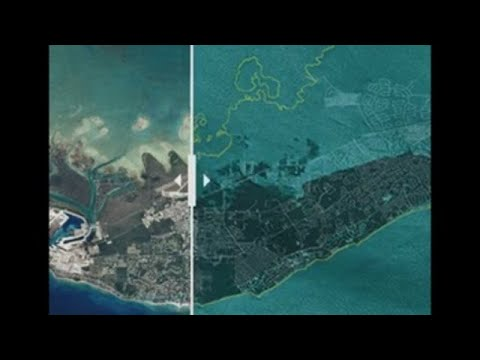 El 60% de la isla de Gran Bahama está bajo el agua por los efectos de Dorian