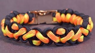 "How to Make the ""Navajo Pattern"" Paracord Survival Bracelet - BoredParacord!"