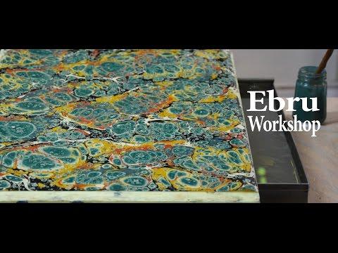 Ebru Turkish Paper Marbling Workshop in Istanbul