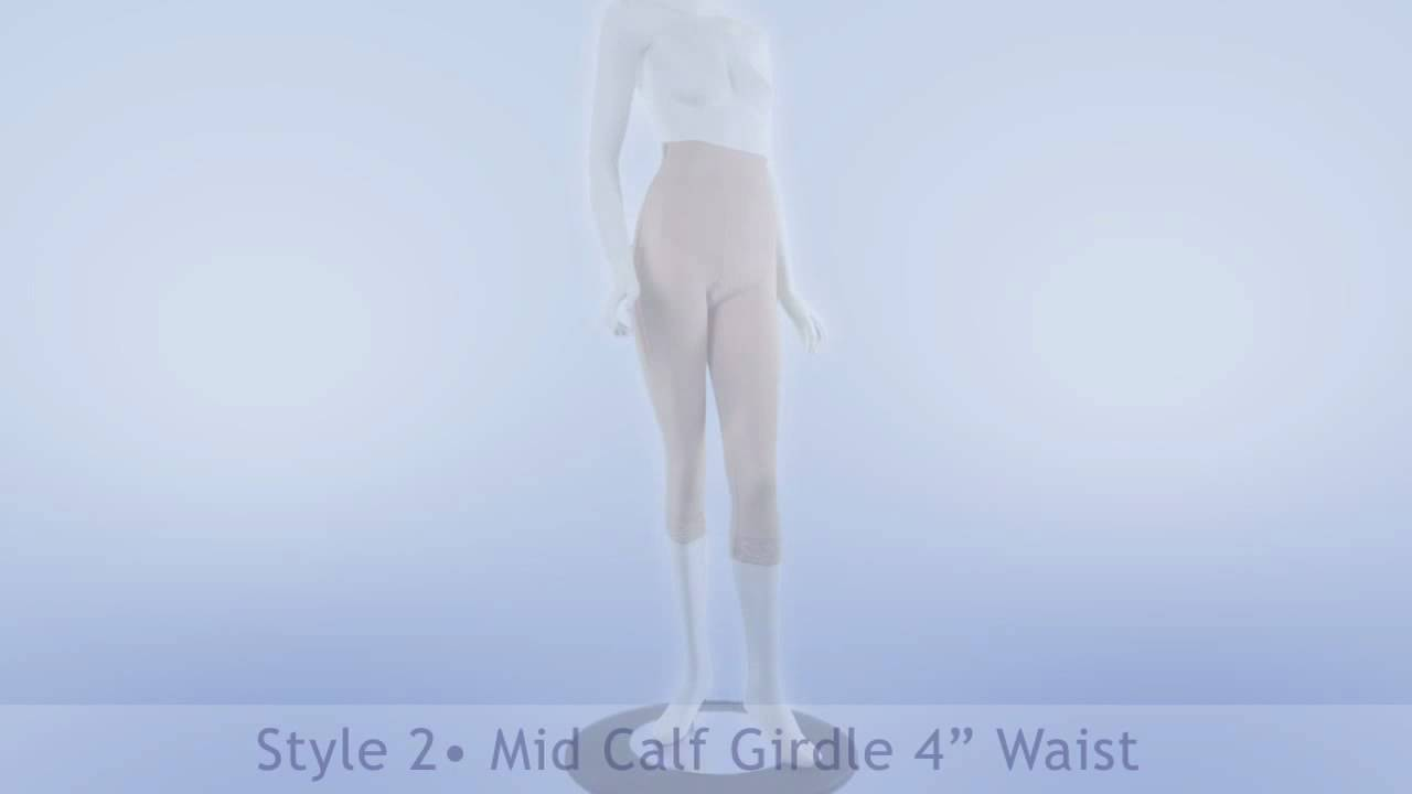 25f0e34f40f Style 2 - Mid Calf Girdle 4in Waist by Contour video Compression Garments.  ContourMD