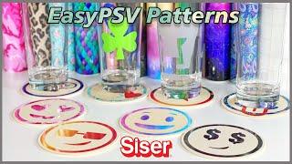 EasyPSV Patterns de Siser. Vinil adhesivo en portavasos!