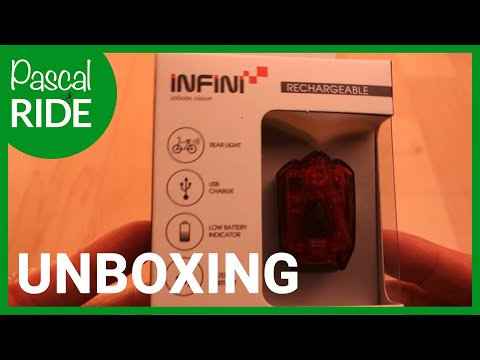 INFINI LAVA I-260R Rechargeable Rear Light - UNBOXING