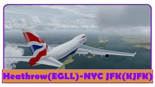 [P3D] BAW117   Heathrow-New York JFK   British Airways   747  