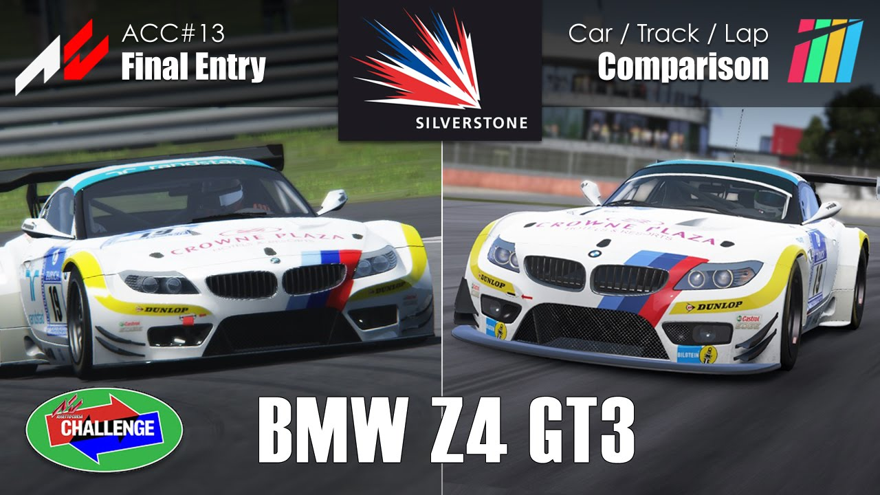 Bmw Z4 Gt3 Silverstone Gp Car Track Lap Comparison Assetto Corsa Project Cars Youtube