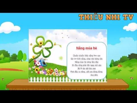 Bài thơ Nắng Mùa Hè - Bai tho Nang mua he - Thiếu nhi vui nhộn