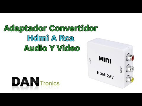 Mini Adaptador Convertidor Señal Hdmi A Rca (Audio Y Video) - Dantronics