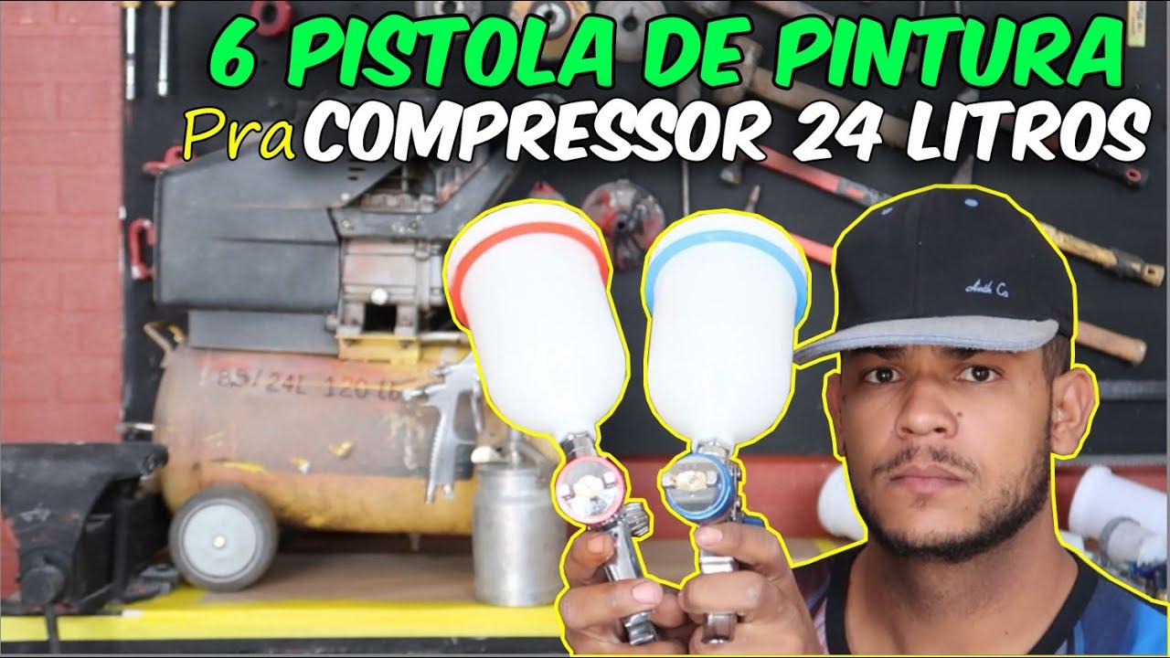 6 MELHORES PISTOLA DE PINTURA pra COMPRESSOR 24 LITROS!!! DESCUBRA A MELHOR!!