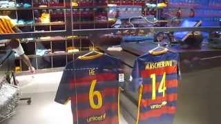 Only 'messi' and 'neymar jr' shirts were on the rack. for other players, you need to order from cashier, pay it, collect it later. they show ...