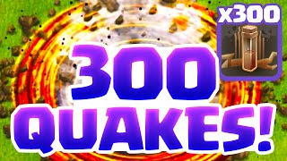 Clash of Clans - 300 EARTHQUAKE Spells Vs. a Town Hall 11 and MORE!