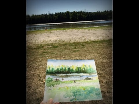 Plein Air Painting At Milne Dam Conservation Park