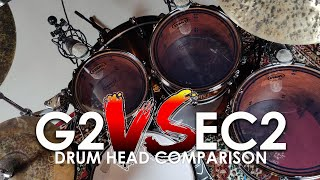 Evans EC2 vs.G2 Clear - Direct Drumhead Comparison