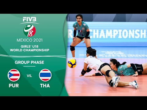 LIVE 🔴 PUR vs. THA - Group Phase | Girls U18 Volleyball World Champs 2021