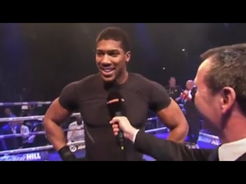 Anthony Joshua interviewed by Sky Sports after Public Workout | Joshua vs Klitschko