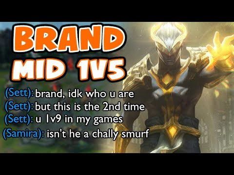 This is how I 1v5 on BRAND MID in HIGH ELO | Challenger Brand Mid | 10.25 - League of Legends