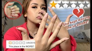 GOING TO THE WORST REVIEWED NAIL SALON IN MY CITY *VALENTINES DAY EDITION*