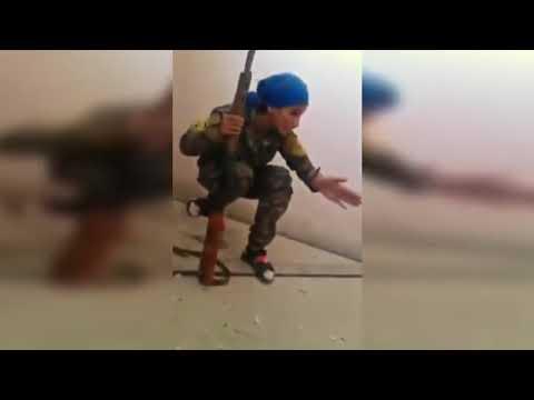 Afrin'de son durum - Ypg Kamerası -  Kurşun kafasını sıyırıyor ! -(türk keskin nişancı sıkıyor)