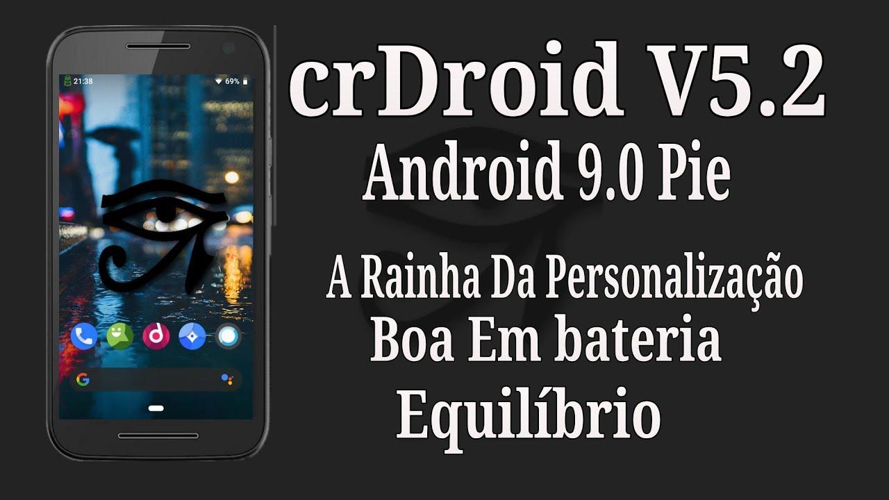 REVIEW! CrDroid V5 2| Android 9 0 Pie| Muita Personalização| Muita bateria|  Equilíbrio by Meu Espertophone