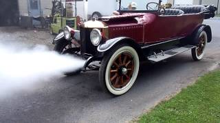 1916 Stanley Steam Car Blowing Down