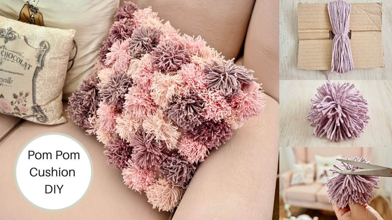 how to make a pom pom cushion