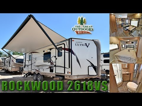 2018 Front Kitchen Ultra V ROCKWOOD 2618VS Travel Trailer RV Half Ton Towable