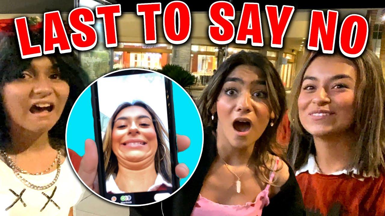 Last to say NO wins DARES in public | GEM Sisters
